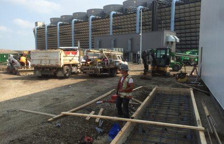Concrete pad prep work